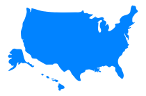 Map of the United States of America (Icon)