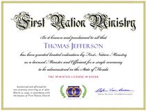 Single-Ceremony Ordination Certificate (Image)
